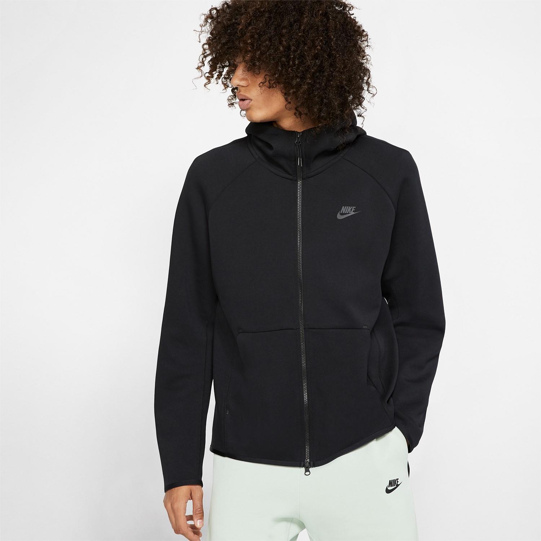 New Mens Nike Wash Short Sleeve Fleece Hoodie
