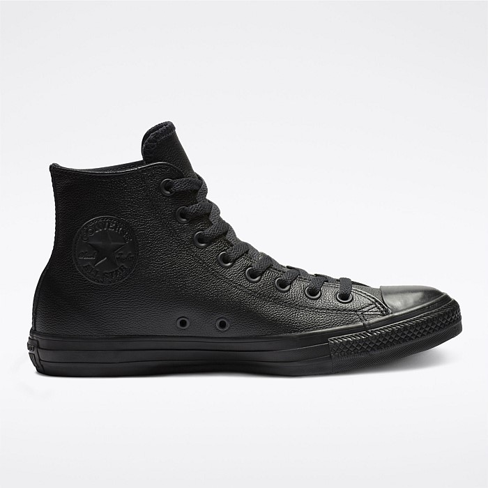 All Star Leather High Black Mono Unisex