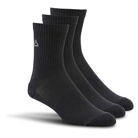 Essentials Unisex Mid Crew Sock 3 Pack