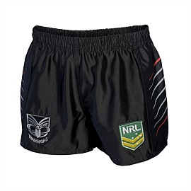 NRL Warriors Supporter Shorts Youth