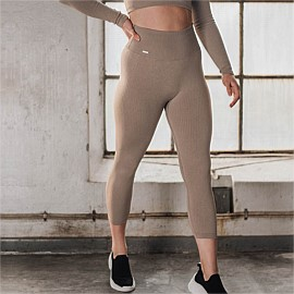 Ribbed Seamless 7/8 Tights