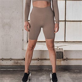 Ribbed Seamless Biker Shorts