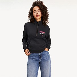 Logo Quarter Zip Sweater