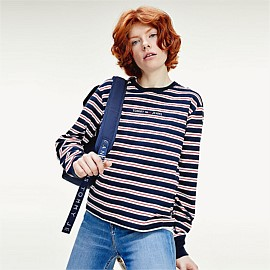 Logo Stripe Long Sleeve T-Shirt