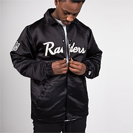 Oakland Raiders Satin Script Coach Jacket
