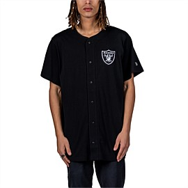 Oakland Raiders Button Up T-Shirt