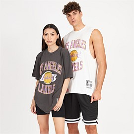 Los Angeles Lakers Vintage Crest Logo Muscle Tank Unisex