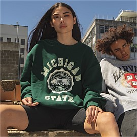College Arch Wordmark Crew Sweatshirt