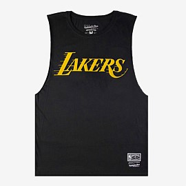 Los Angeles Lakers Retro Repeat Muscle Tank