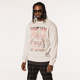 Chicago Bulls Vintage Hall of Fame Crew Sweatshirt Unisex