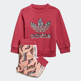 Graphic Print Crew Set Infants