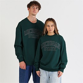 Chanille Wordmark Crew Sweatshirt